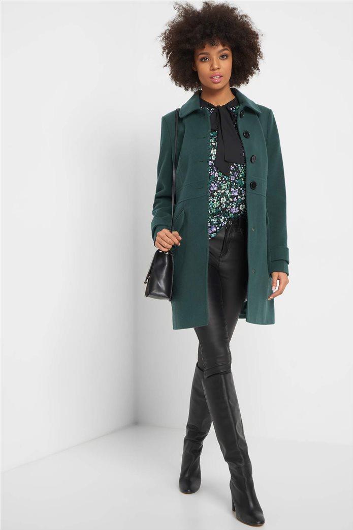 Orsay γυναικεία εμπριμέ μπλούζα με διακοσμητικό φιόγκο 1