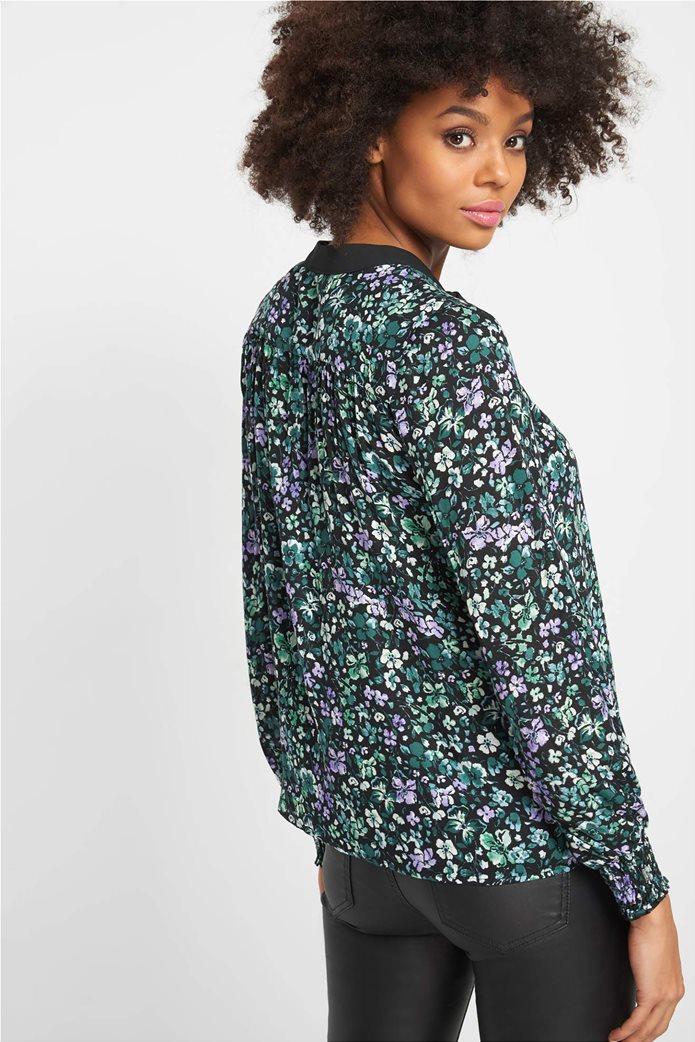 Orsay γυναικεία εμπριμέ μπλούζα με διακοσμητικό φιόγκο 2