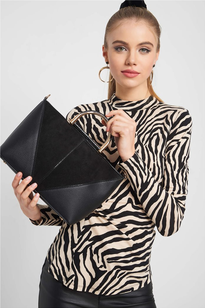 Orsay γυναικεία τσάντα χειρός με μεταλλικά χερούλια 0