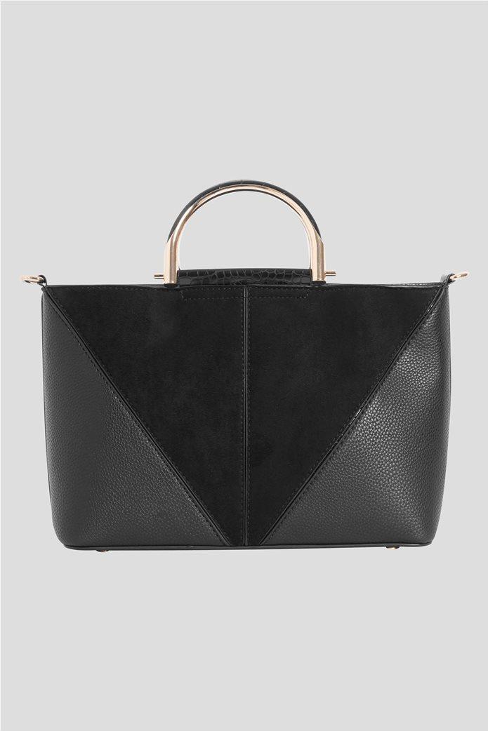 Orsay γυναικεία τσάντα χειρός με μεταλλικά χερούλια 1