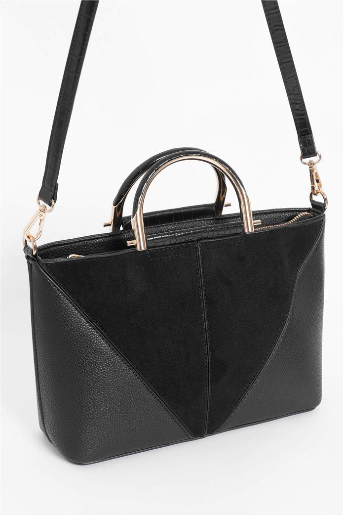 Orsay γυναικεία τσάντα χειρός με μεταλλικά χερούλια 2