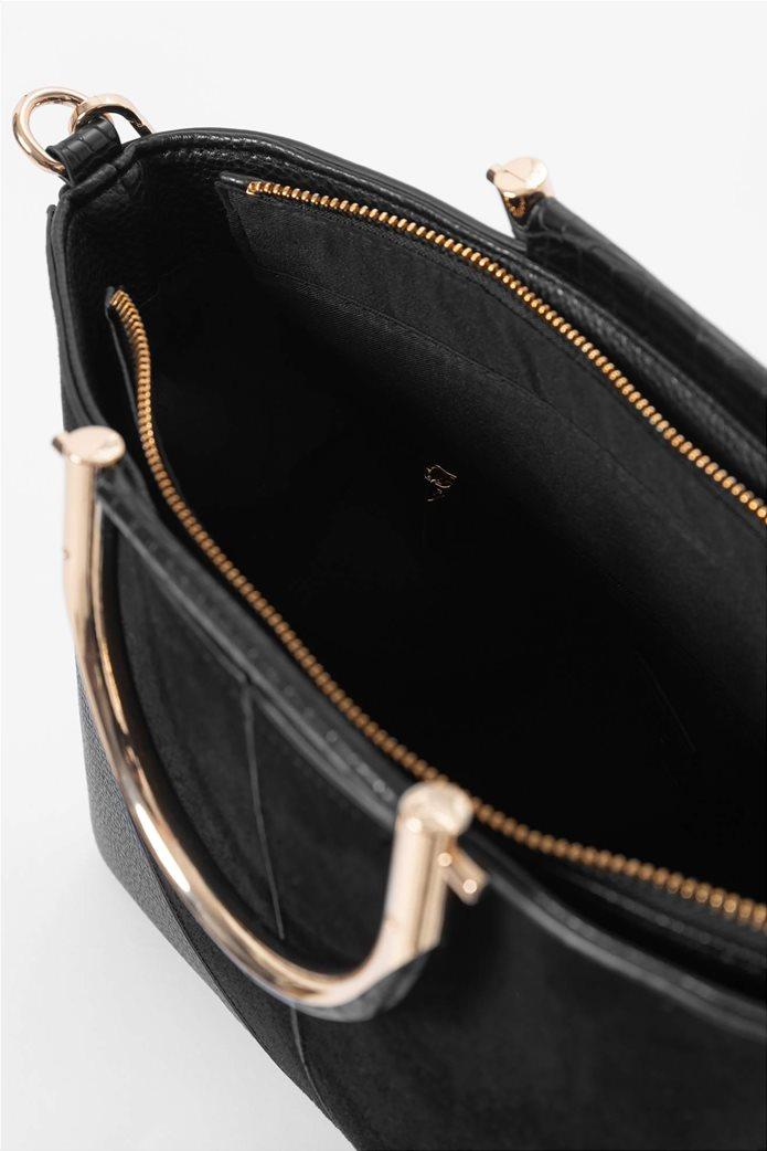 Orsay γυναικεία τσάντα χειρός με μεταλλικά χερούλια 3