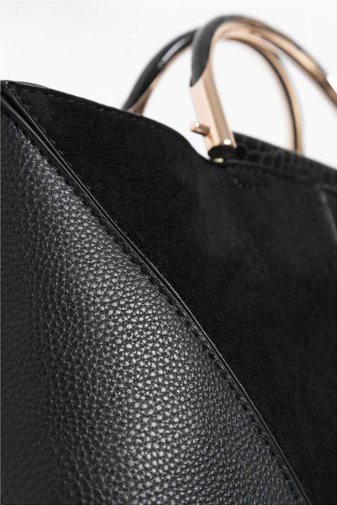 Orsay γυναικεία τσάντα χειρός με μεταλλικά χερούλια 4