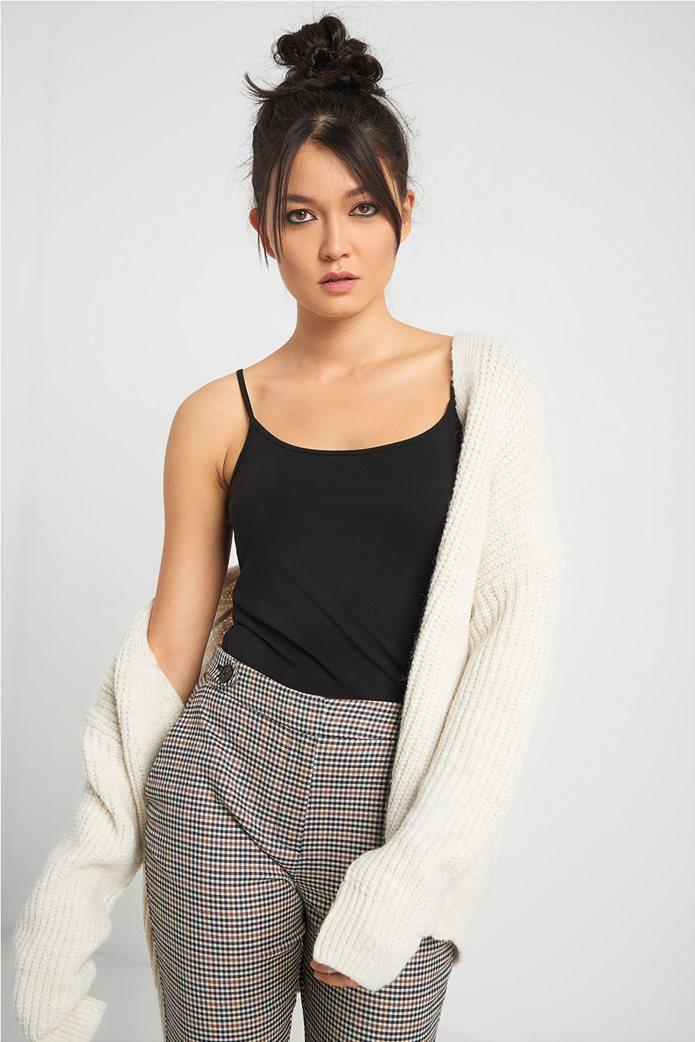 Orsay γυναικεία μπλούζα με ραντάκι μονόχρωμη Μαύρο 0