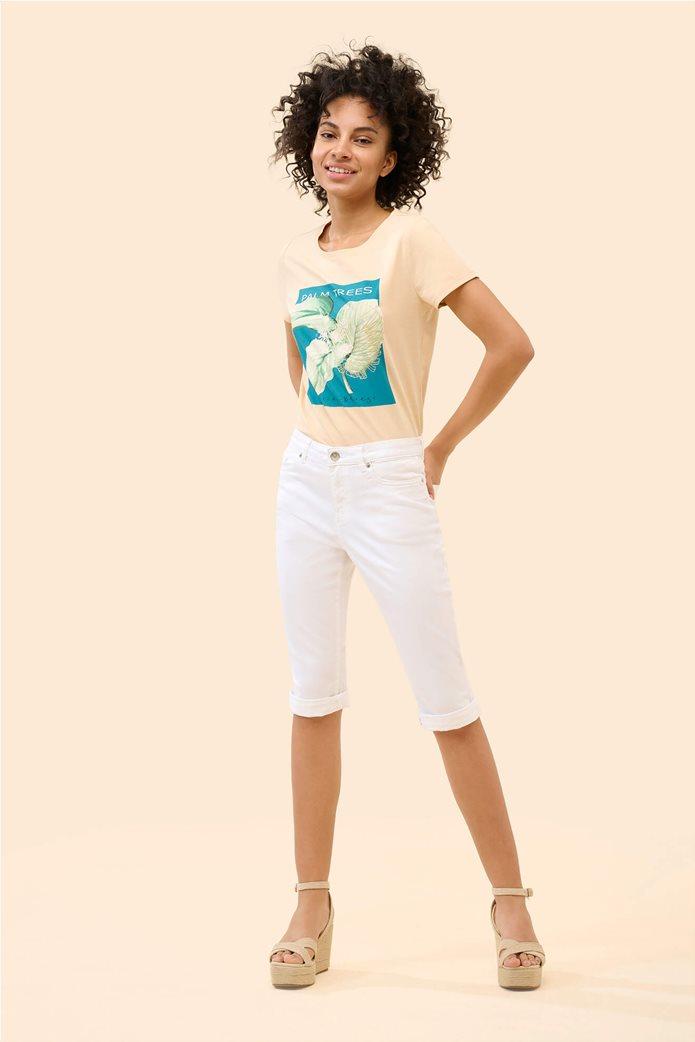 Orsay γυναικείο κάπτρι παντελόνι μονόχρωμο Λευκό 0