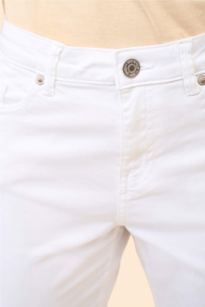 Orsay γυναικείο κάπτρι παντελόνι μονόχρωμο Λευκό 1