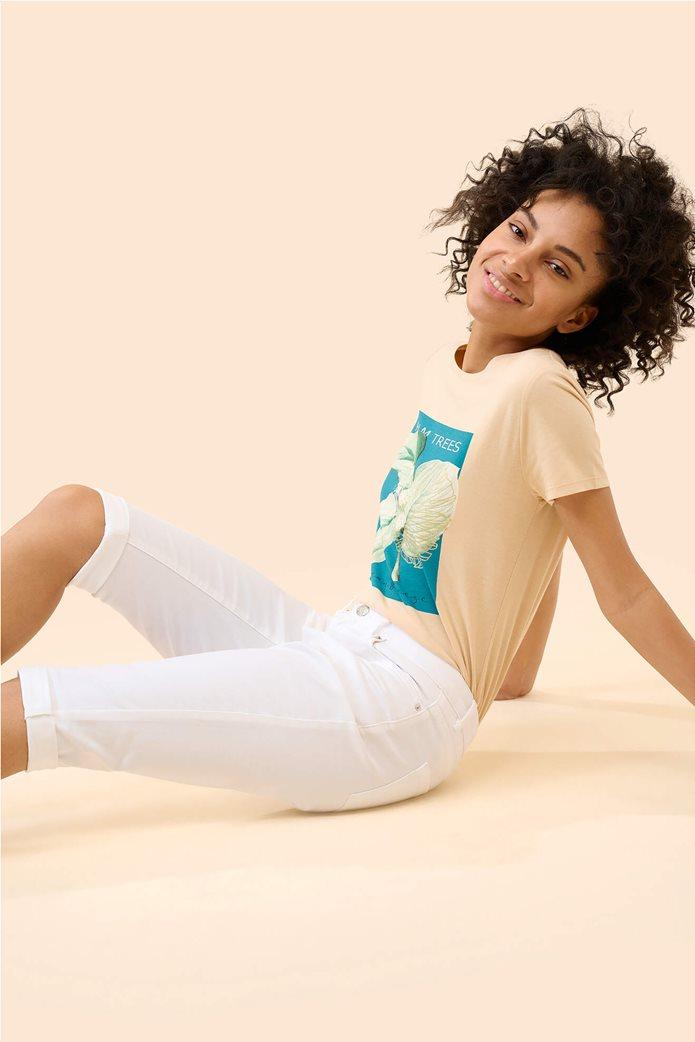 Orsay γυναικείο κάπτρι παντελόνι μονόχρωμο Λευκό 2