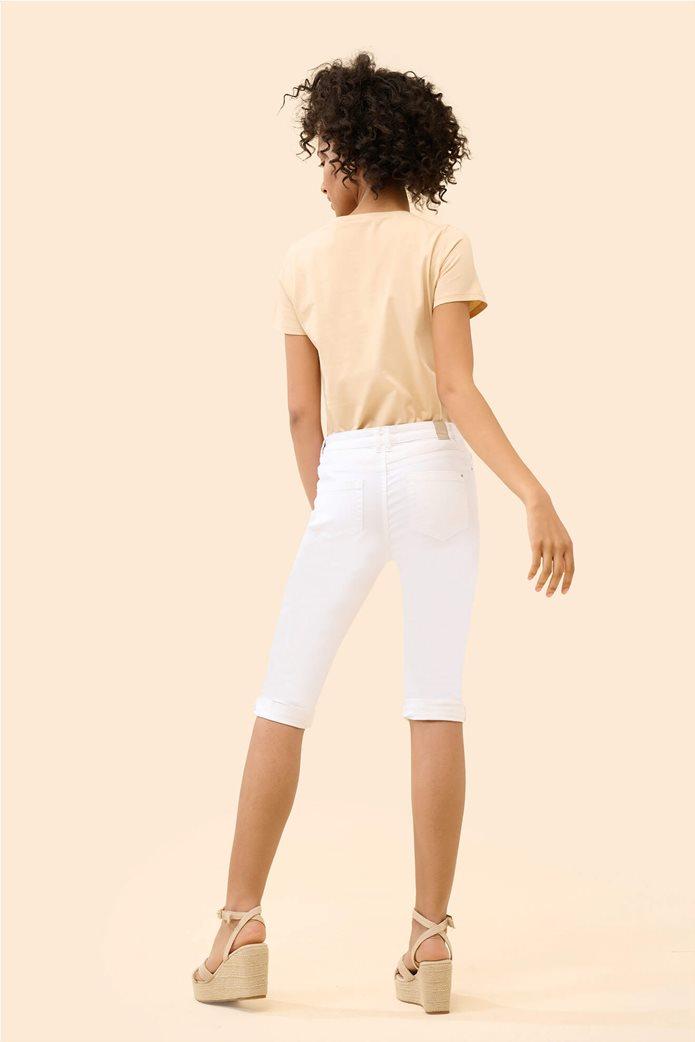 Orsay γυναικείο κάπτρι παντελόνι μονόχρωμο Λευκό 3