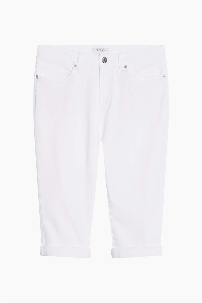 Orsay γυναικείο κάπτρι παντελόνι μονόχρωμο Λευκό 4