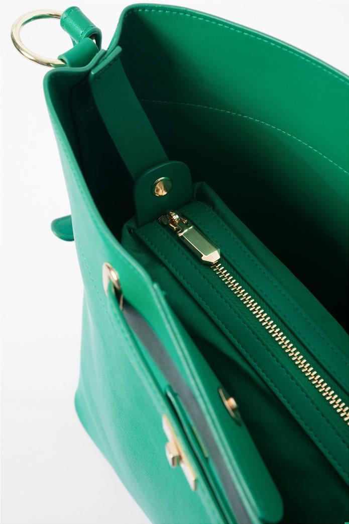 Orsay γυναικεία hobo τσάντα μονόχρωμη 3