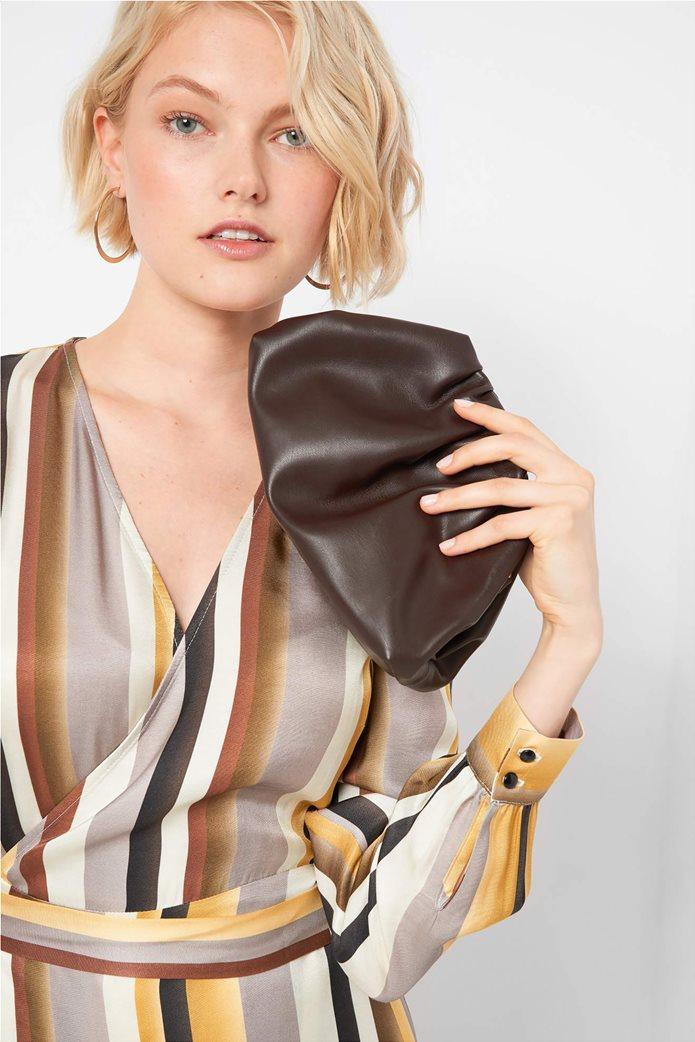 Orsay γυναικεία clutch τσάντα με σούρες 0