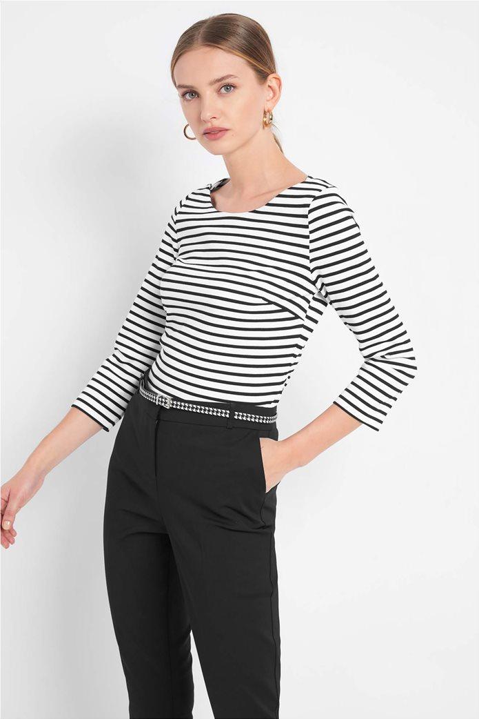 Orsay γυναικεία μπλούζα ριγέ με μανίκι 3/4 0