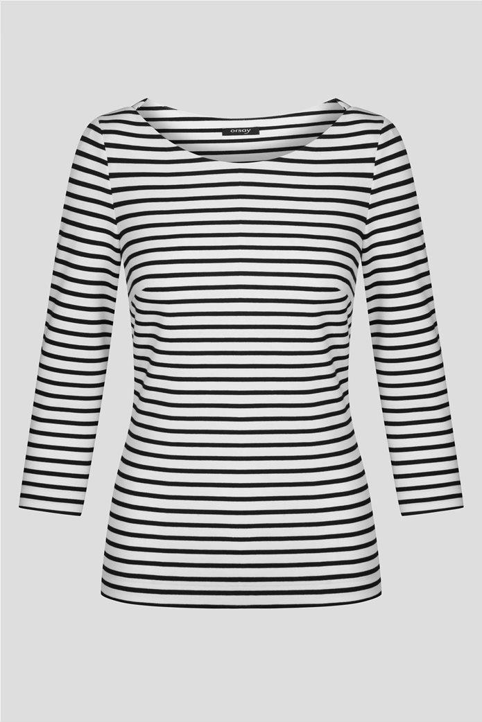 Orsay γυναικεία μπλούζα ριγέ με μανίκι 3/4 4