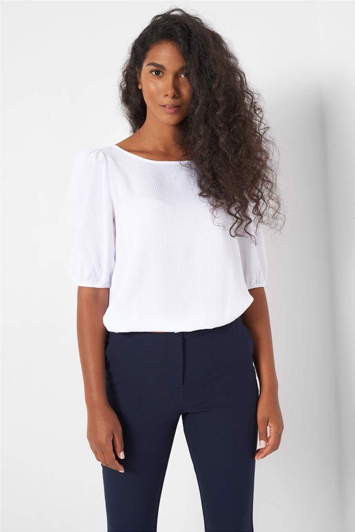 Orsay γυναικεία μπλούζα μονόχρωμη με ανάγλυφο σχέδιο 0
