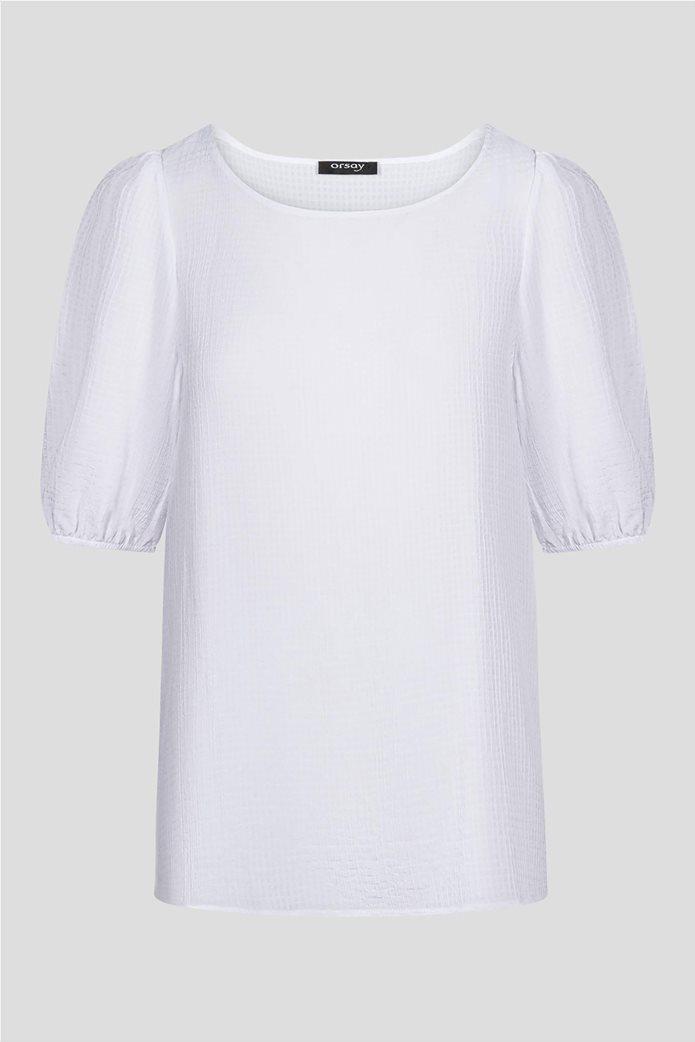 Orsay γυναικεία μπλούζα μονόχρωμη με ανάγλυφο σχέδιο 4
