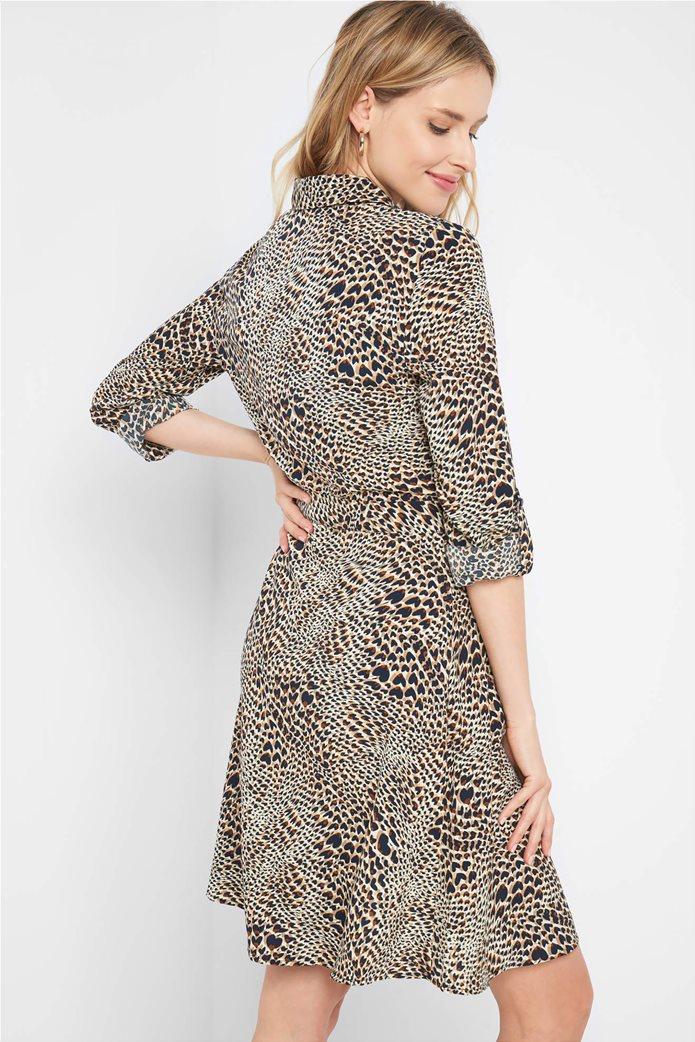 Orsay γυναικείο mini φόρεμα σεμιζιέ με animal print 2
