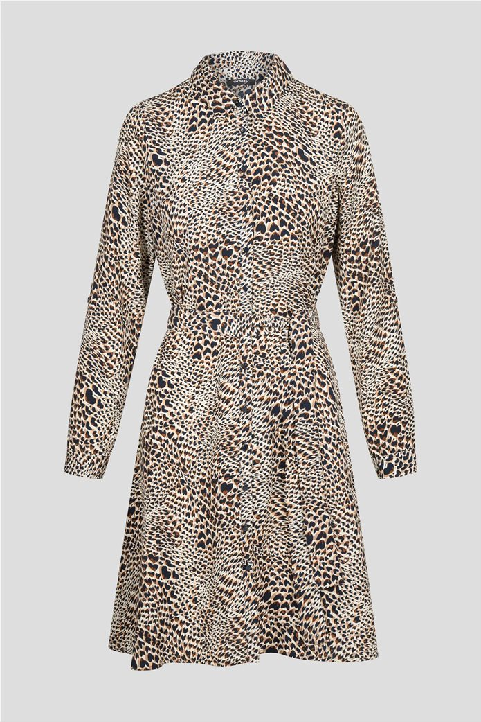Orsay γυναικείο mini φόρεμα σεμιζιέ με animal print 4