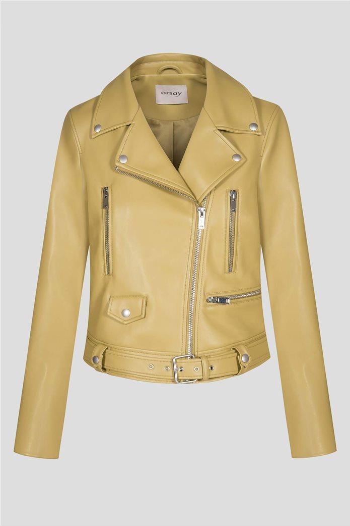 Orsay γυναικείο biker jacket faux leather 4