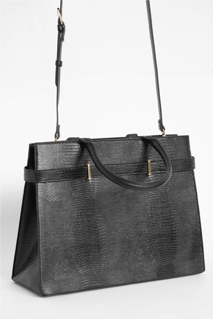 Orsay γυναιεία τσάντα χειρός με snake print 1