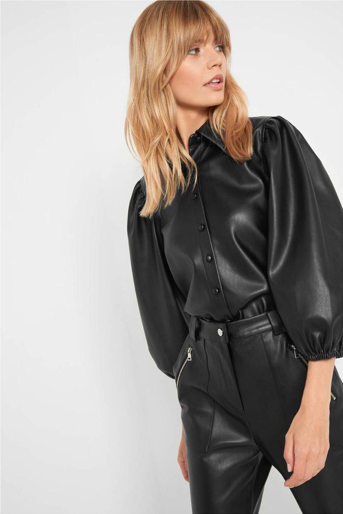 Orsay γυναικείο πουκάμισο faux leather 0