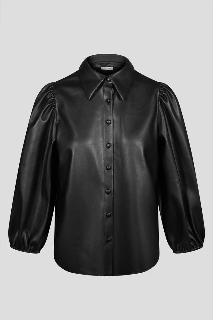 Orsay γυναικείο πουκάμισο faux leather 2