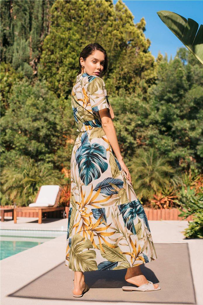 Orsay γυναικείο maxi φόρεμα σεμιζιέ με εμπριμέ print Λευκό 2
