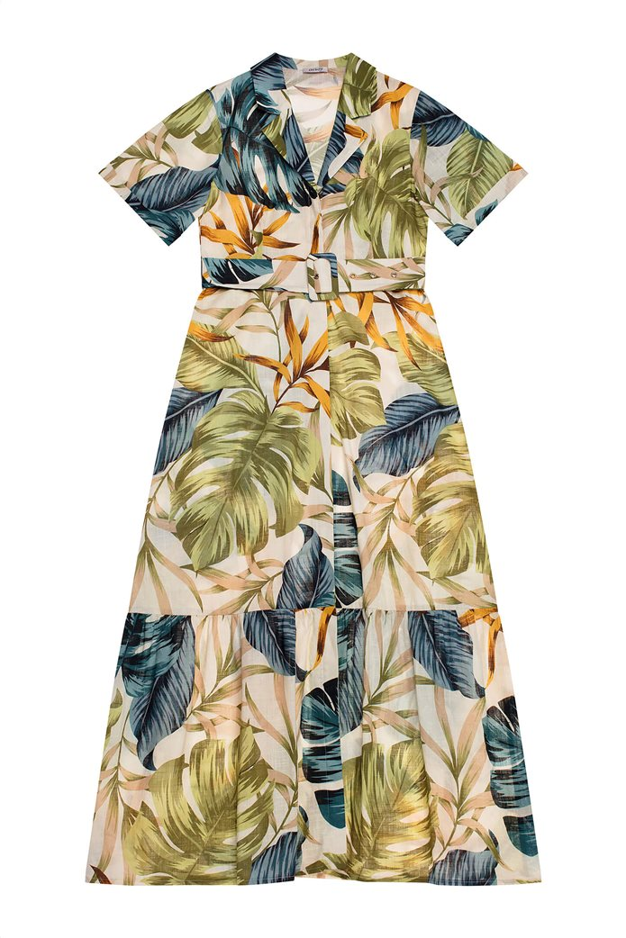 Orsay γυναικείο maxi φόρεμα σεμιζιέ με εμπριμέ print Λευκό 4