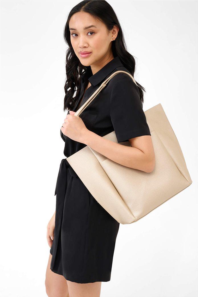 Esprit γυναικεία shopper bag Μπεζ 0