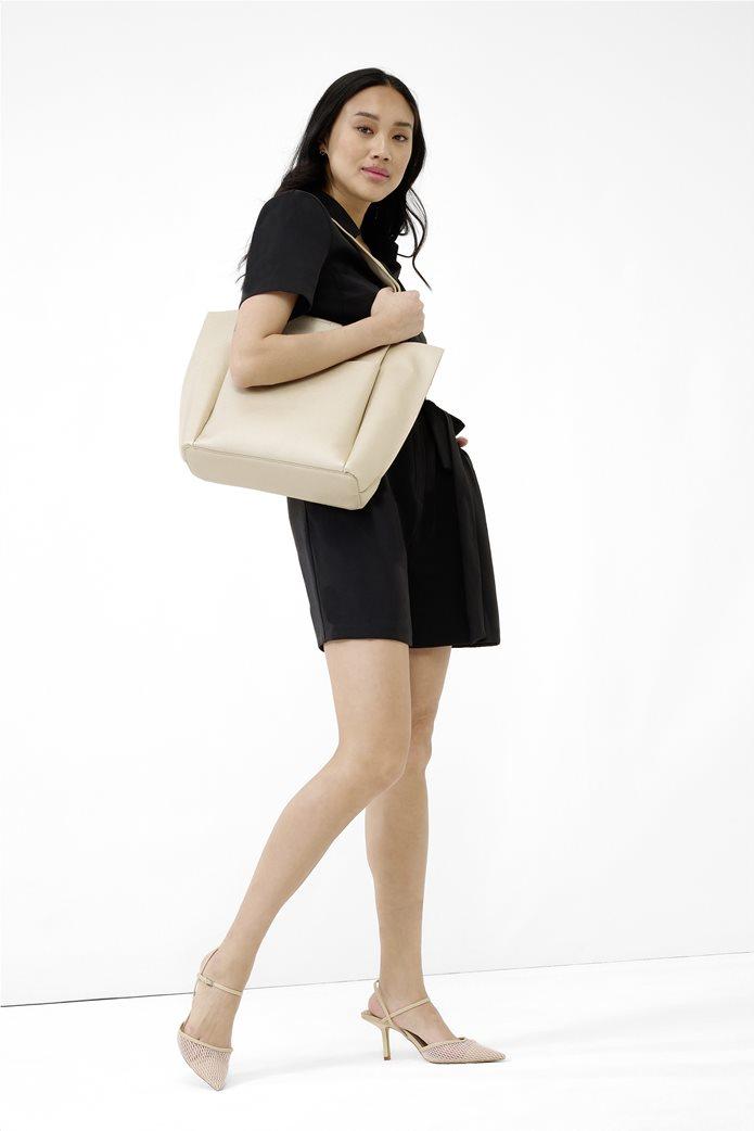 Esprit γυναικεία shopper bag Μπεζ 1