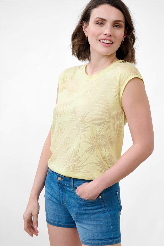 Orsay γυναικεία μπλούζα με tropical print Κίτρινο 0