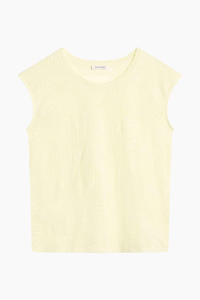 Orsay γυναικεία μπλούζα με tropical print Κίτρινο 4