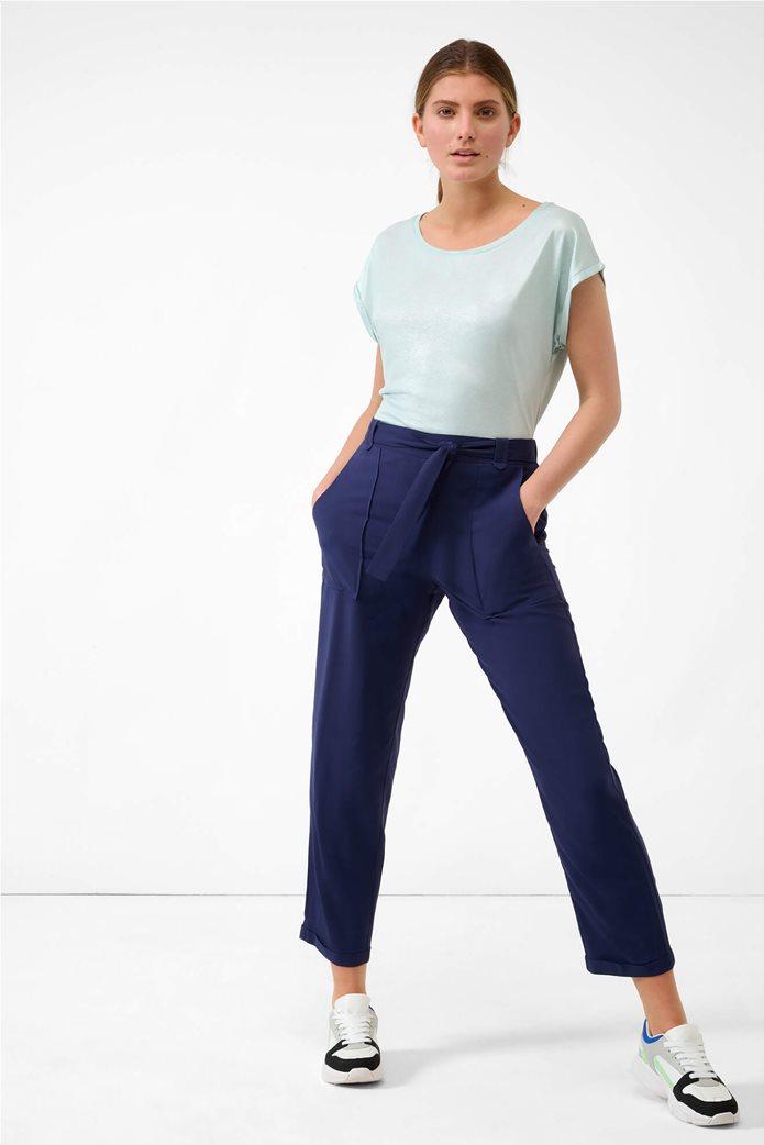 Orsay γυναικείο παντελόνι με ελαστική μέση Μπλε Σκούρο 0
