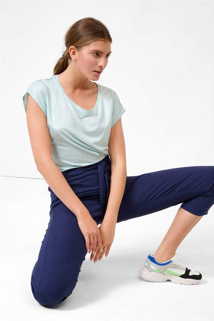 Orsay γυναικείο παντελόνι με ελαστική μέση Μπλε Σκούρο 1