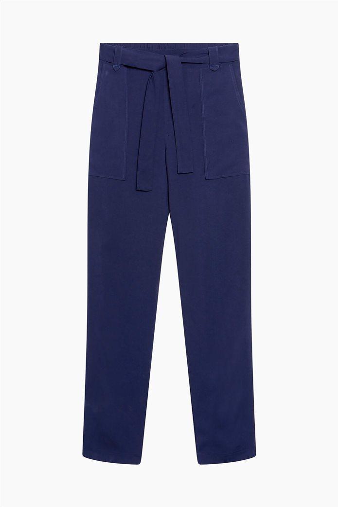 Orsay γυναικείο παντελόνι με ελαστική μέση Μπλε Σκούρο 4