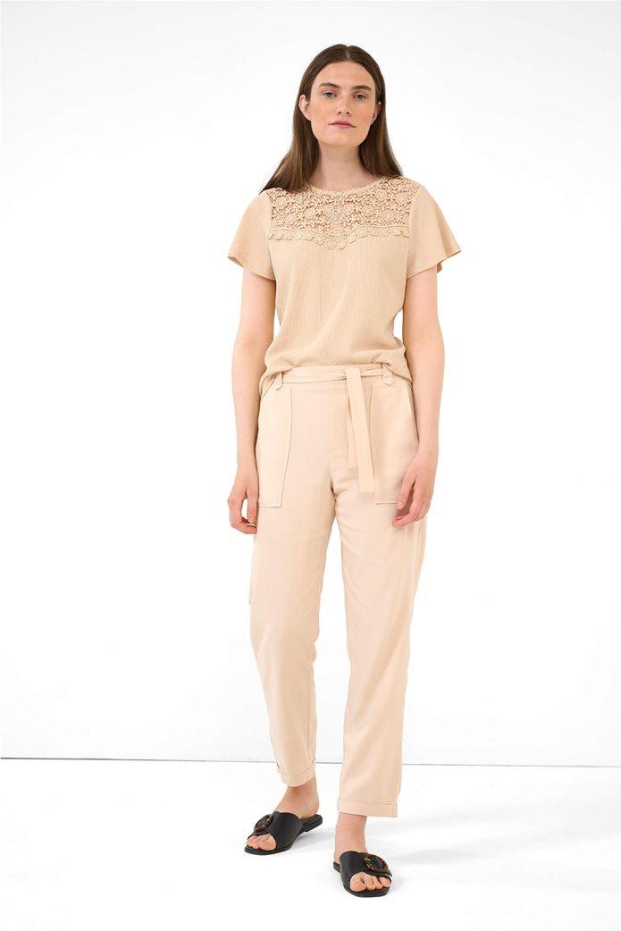 Orsay γυναικείο παντελόνι με ελαστική μέση Ροζ 0