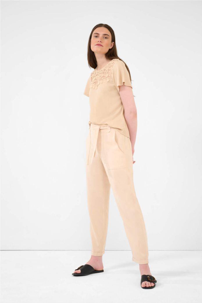 Orsay γυναικείο παντελόνι με ελαστική μέση Ροζ 1