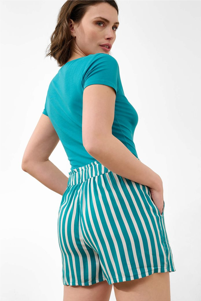 Orsay γυναικείο T-shirt μονόχρωμο με V λαιμόκοψη Γαλάζιο 2