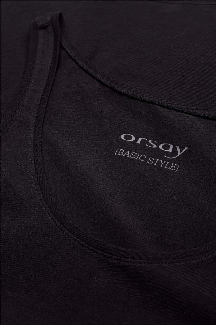 Orsay γυναικείο φανελάκι ribbed Μαύρο 3