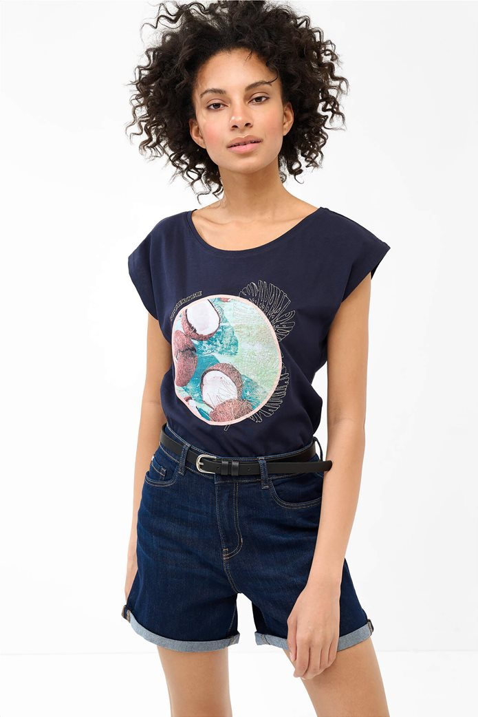Orsay γυναικείο Τ-shirt με photo print Μπλε Σκούρο 0