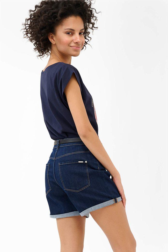 Orsay γυναικείο Τ-shirt με photo print Μπλε Σκούρο 3
