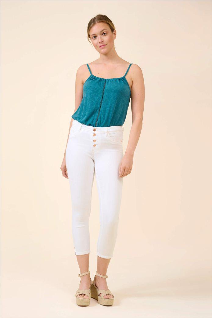 Orsay γυναικείο τζην παντελόνι capri πεντάτσεπο Λευκό 0