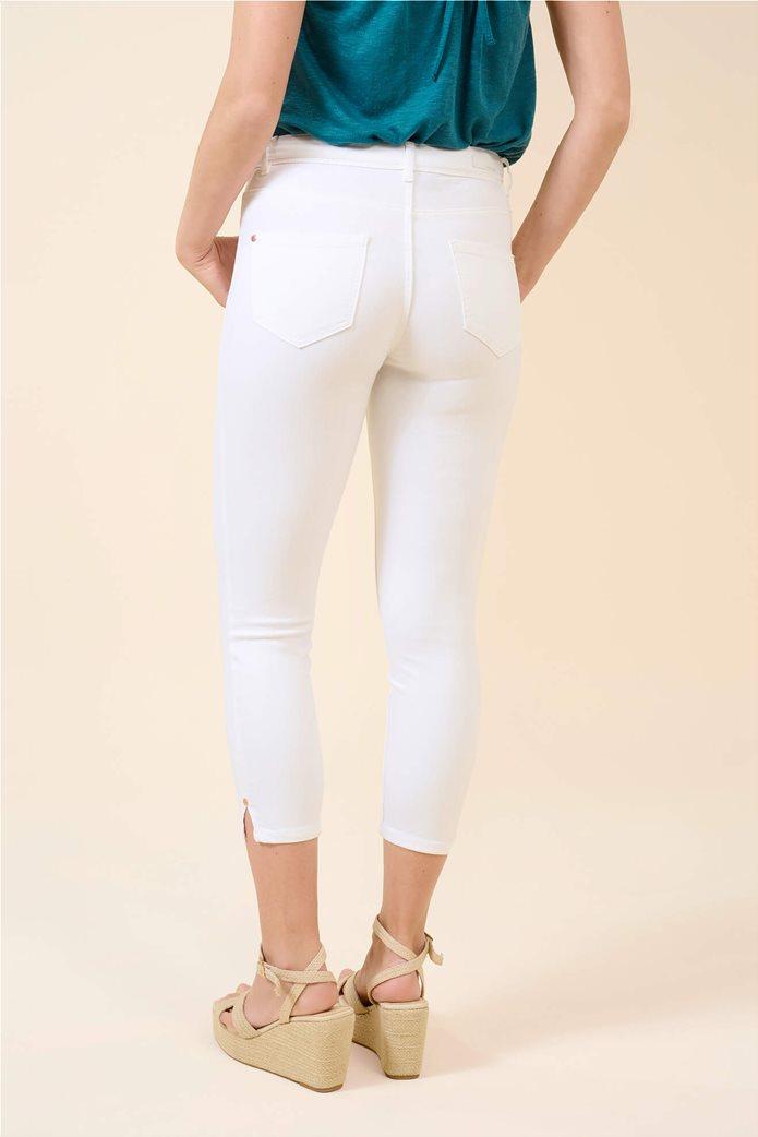 Orsay γυναικείο τζην παντελόνι capri πεντάτσεπο Λευκό 2