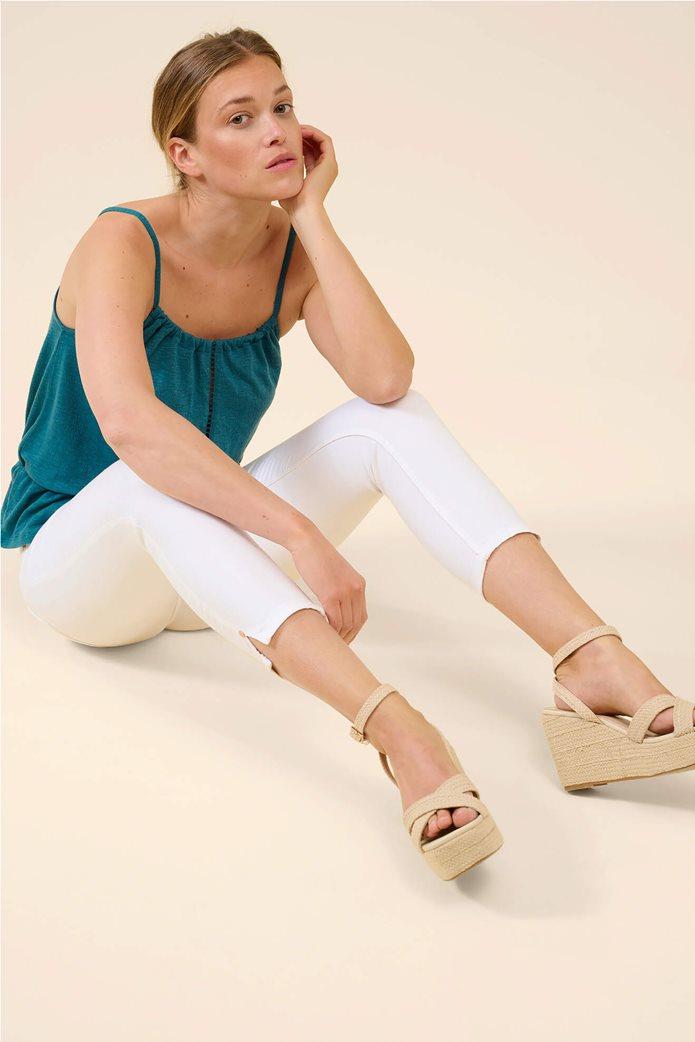 Orsay γυναικείο τζην παντελόνι capri πεντάτσεπο Λευκό 3