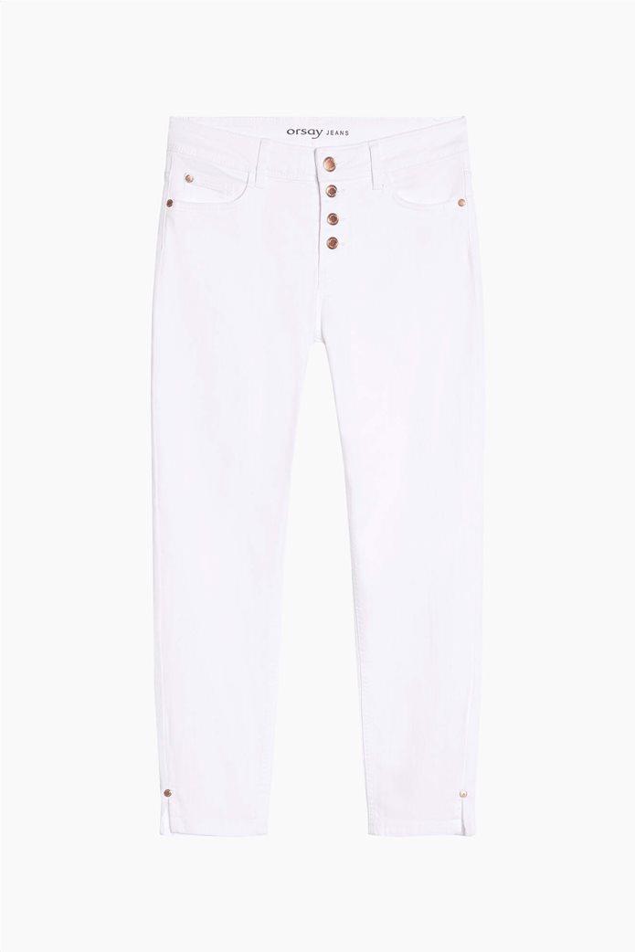 Orsay γυναικείο τζην παντελόνι capri πεντάτσεπο Λευκό 4