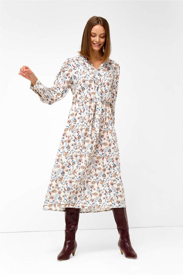 Orsay γυναικείο midi φόρεμα με floral print Άσπρο 2