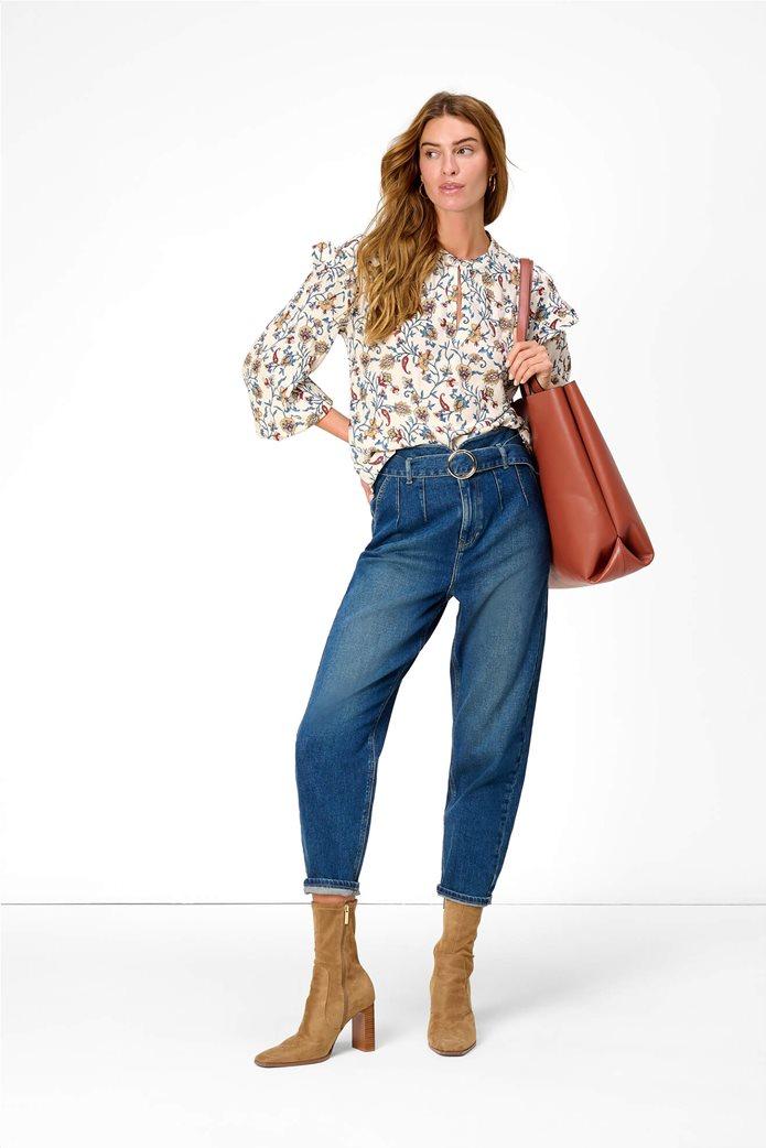 Orsay γυναικεία μπλούζα με floral print και βολάν Λευκό 0