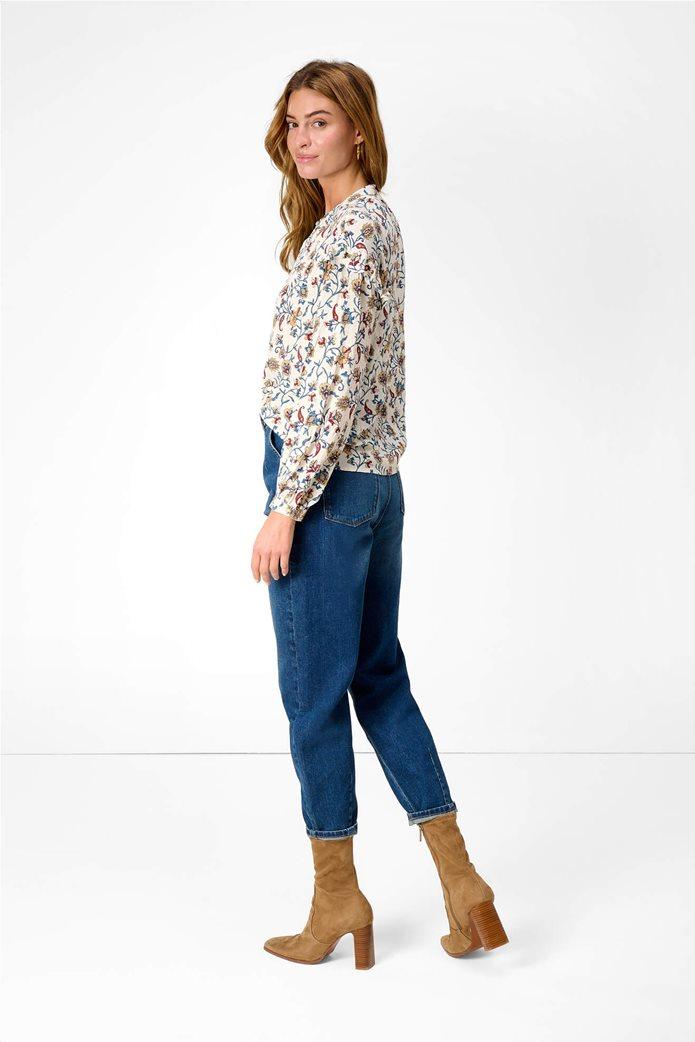 Orsay γυναικεία μπλούζα με floral print και βολάν Λευκό 3