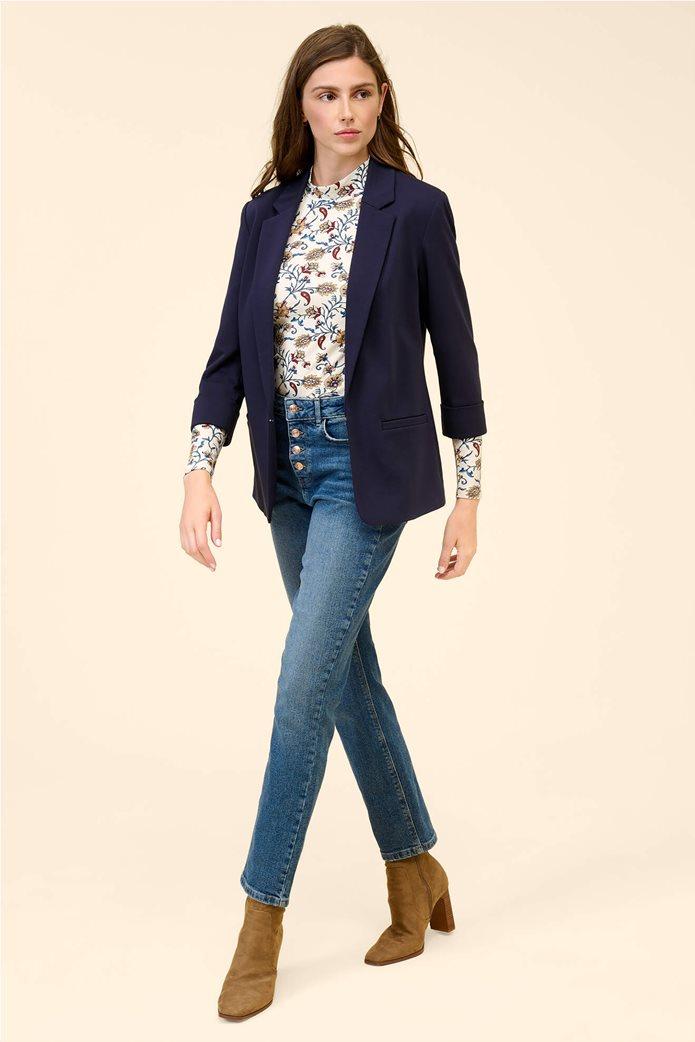Orsay γυναικείο σακάκι με μανίκι 3/4 Μπλε Σκούρο 0