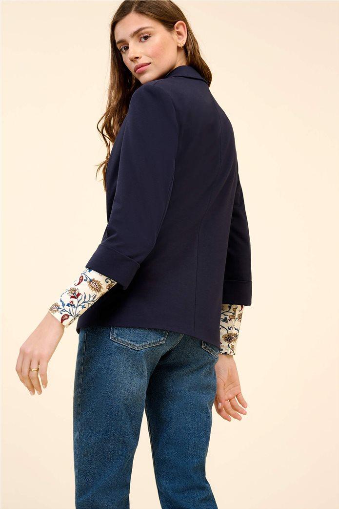 Orsay γυναικείο σακάκι με μανίκι 3/4 Μπλε Σκούρο 3