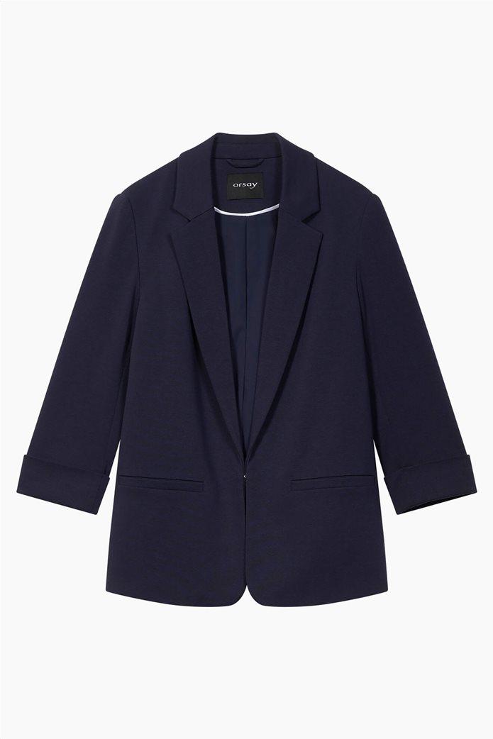 Orsay γυναικείο σακάκι με μανίκι 3/4 Μπλε Σκούρο 4